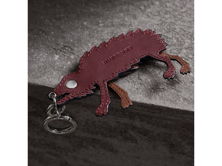 Beasts Leather Key Ring in Antique Red - Men | Burberry - cell image 2