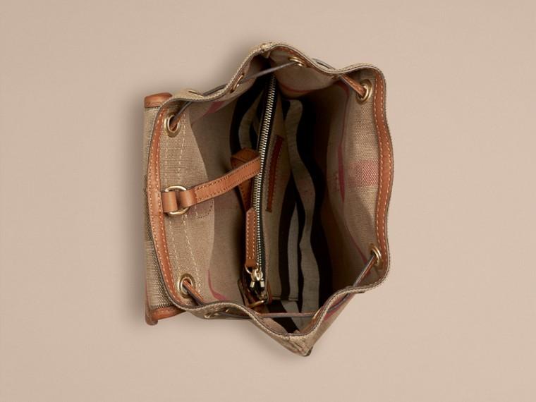 Рыжевато-коричневый Рюкзак в клетку Canvas Check Рыжевато-коричневый - cell image 2