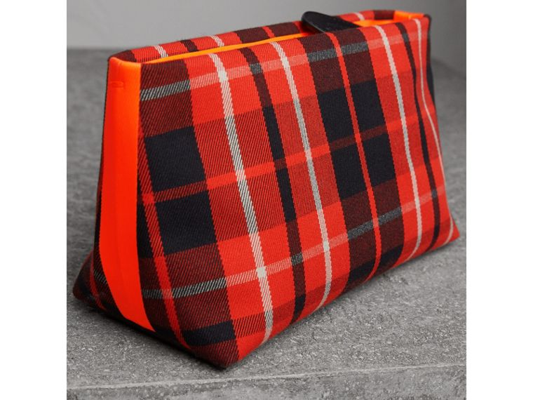 Tartan Cotton Clutch in Vibrant Red/flax Yellow | Burberry - cell image 4