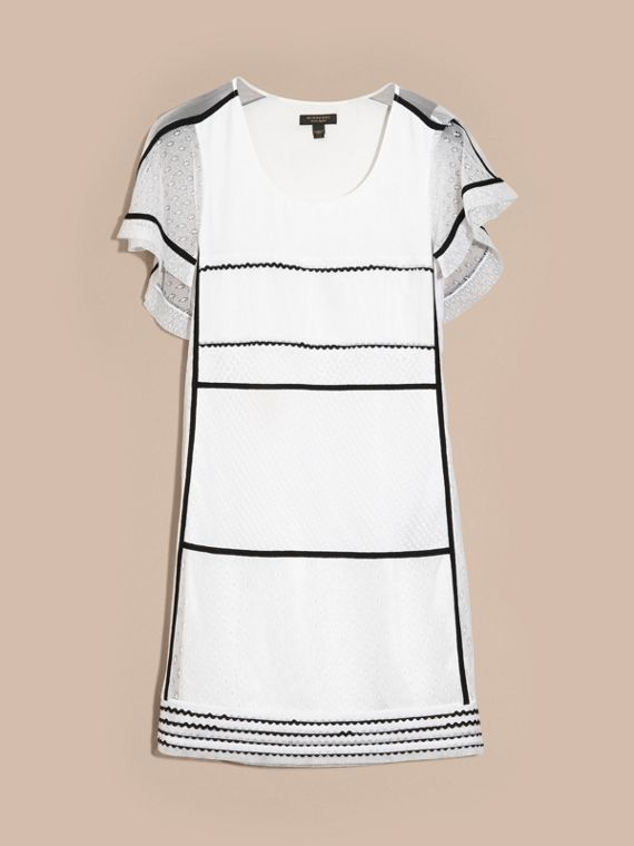 White Fil Coupé and Lace-trimmed Shift Dress - cell image 3