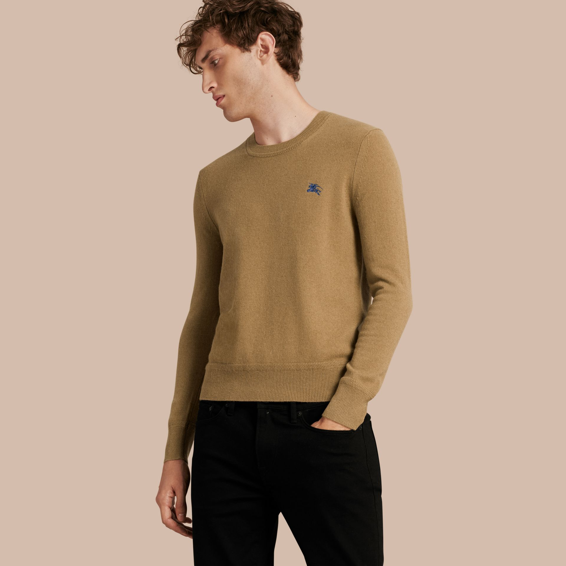Heritage Detail Cashmere Sweater - Men | Burberry - gallery image 1