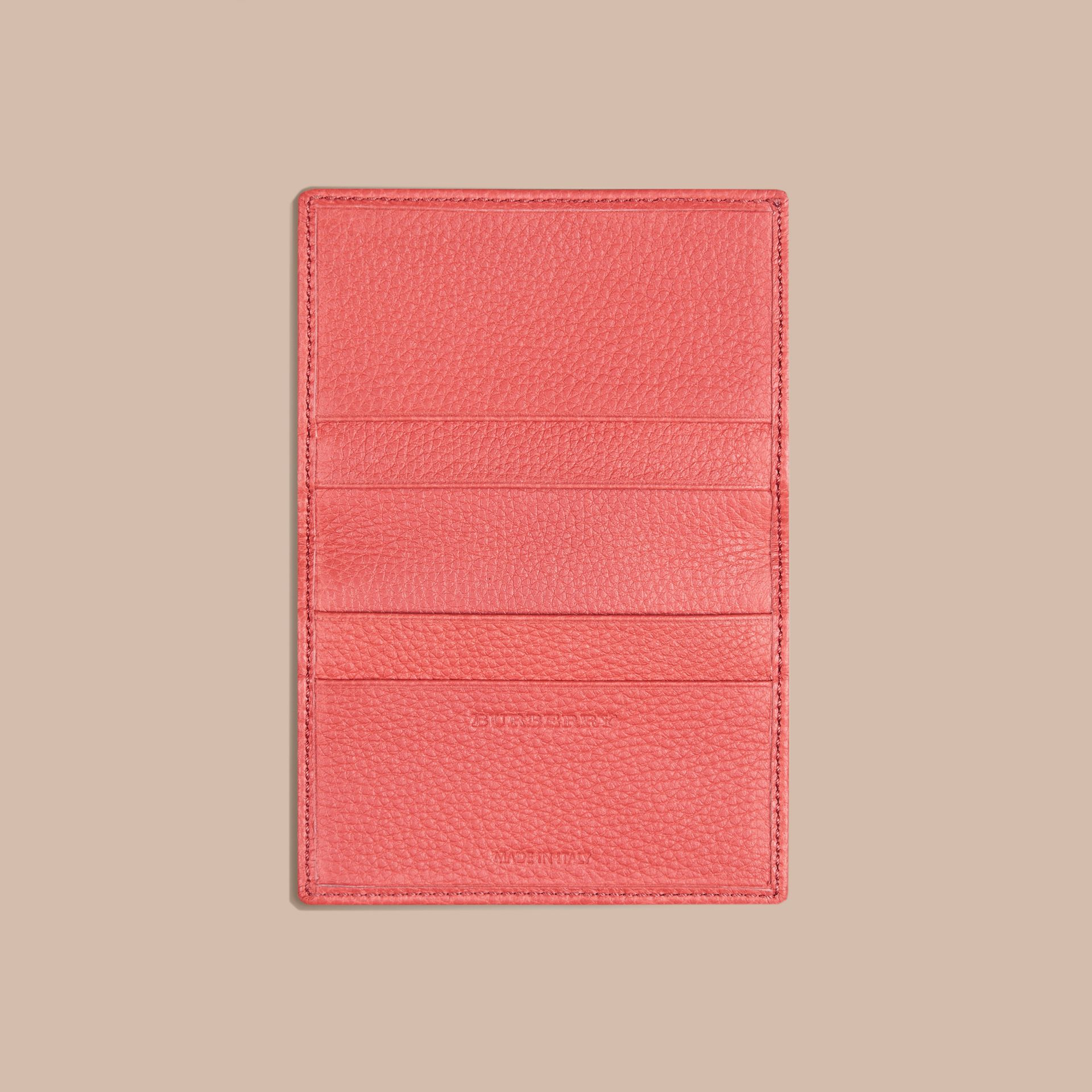 Bright peony Grainy Leather Card Case Bright Peony - gallery image 4