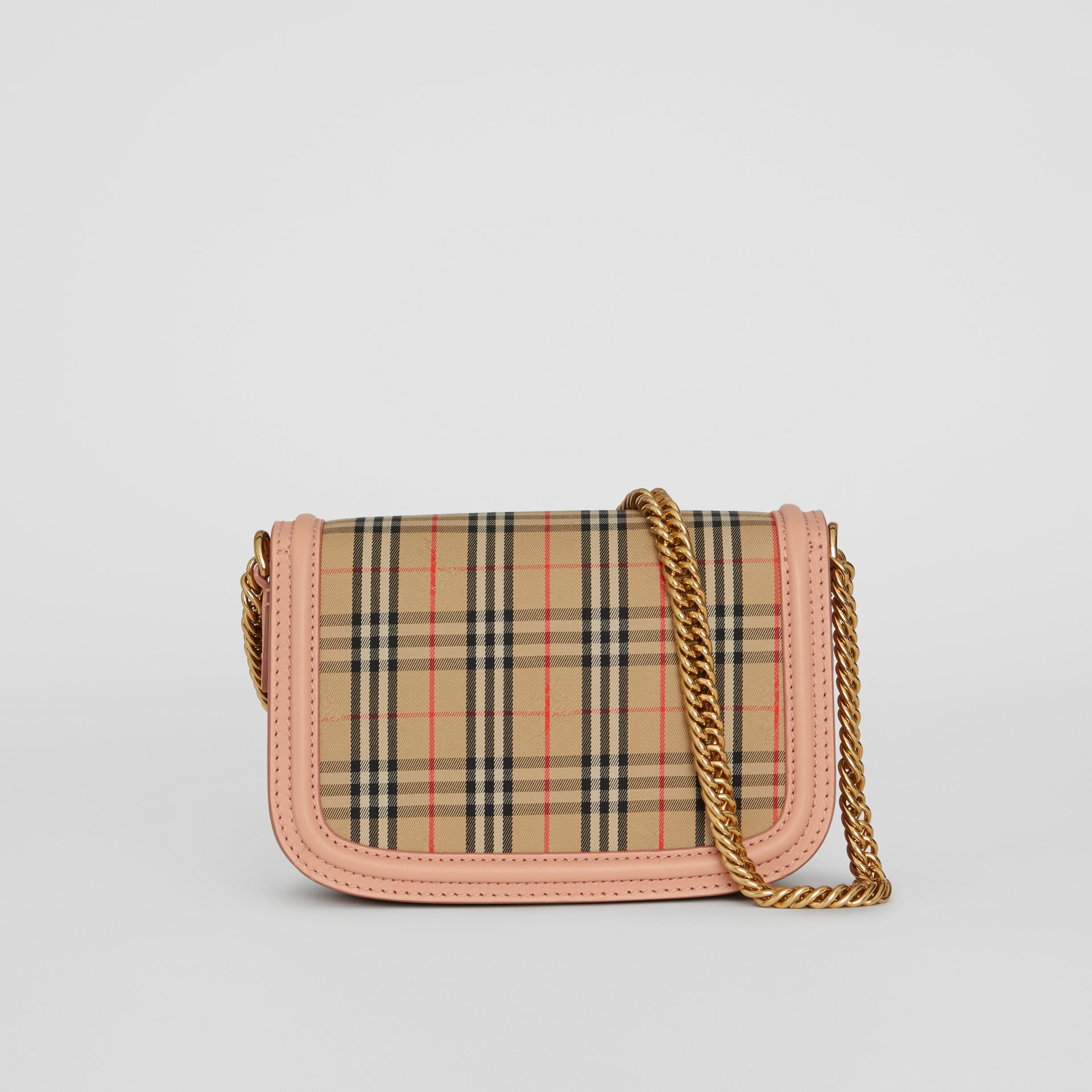 The 1983 Check Link Bag with Leather Trim in Peach - Women | Burberry - gallery image 7