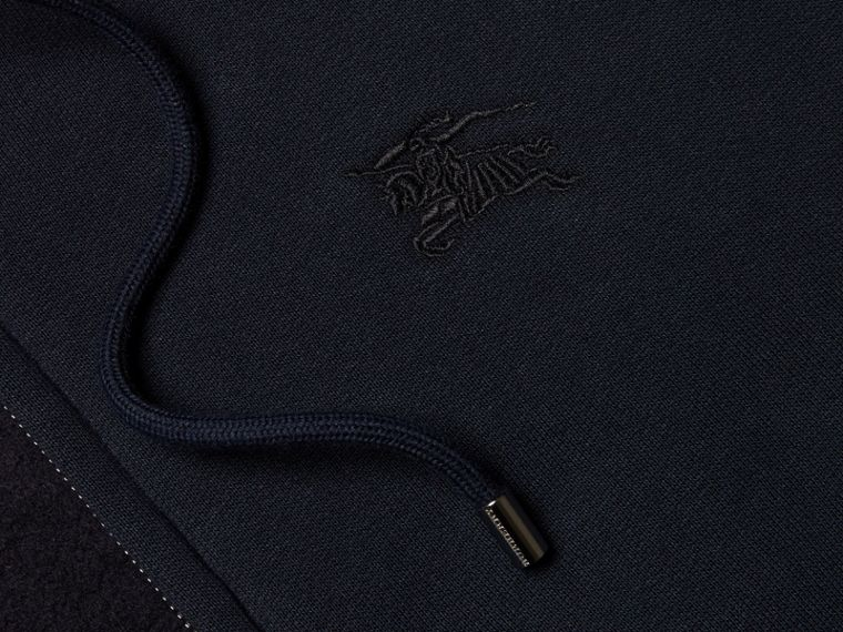 Hooded Cotton Jersey Top in Navy - Men | Burberry - cell image 1