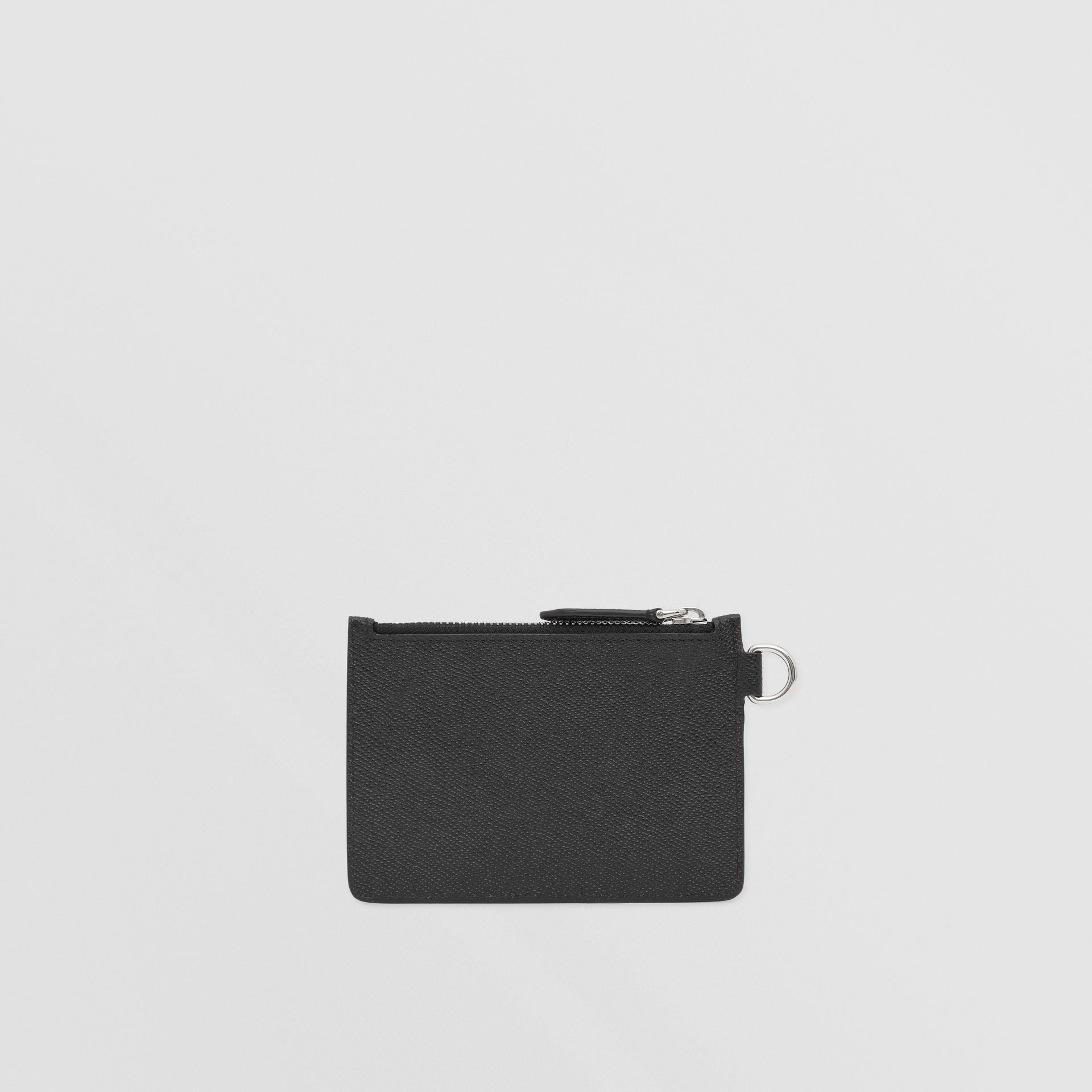 Grainy Leather Zip Coin Case in Black - Men | Burberry United Kingdom - gallery image 5