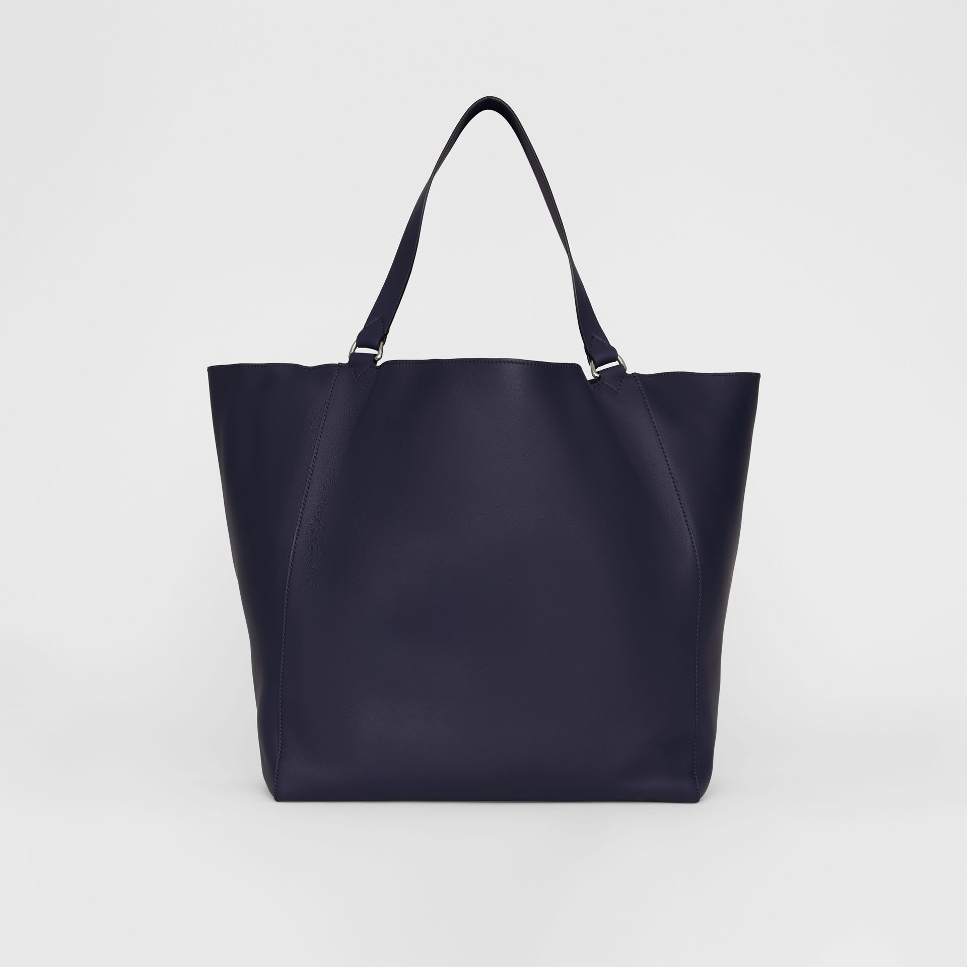 Large Embossed Crest Bonded Leather Tote in Regency Blue - Men | Burberry United States - gallery image 9