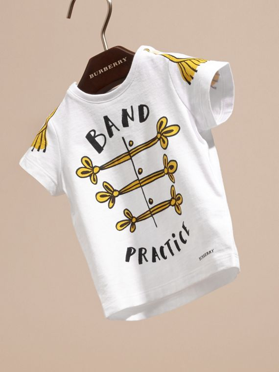 White Band Practice Motif Cotton T-shirt - cell image 2