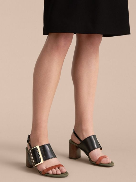 Buckle Detail Leather Sandals - Women | Burberry - cell image 2