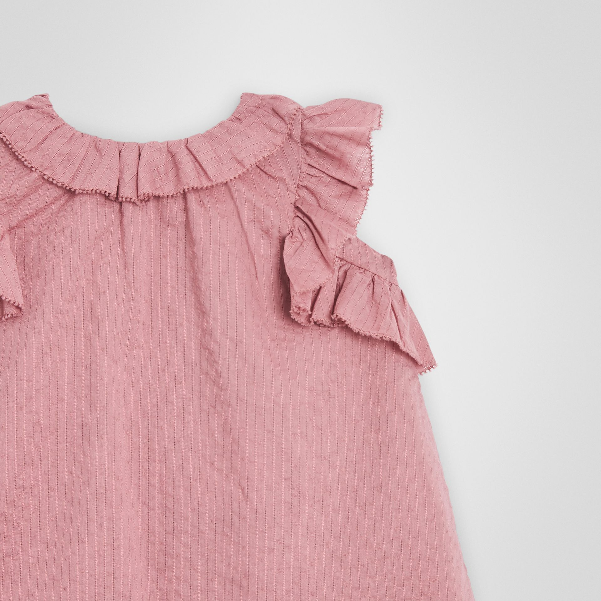 Ruffle Detail Cotton Dress with Bloomers in Light Elderberry - Children | Burberry - gallery image 5