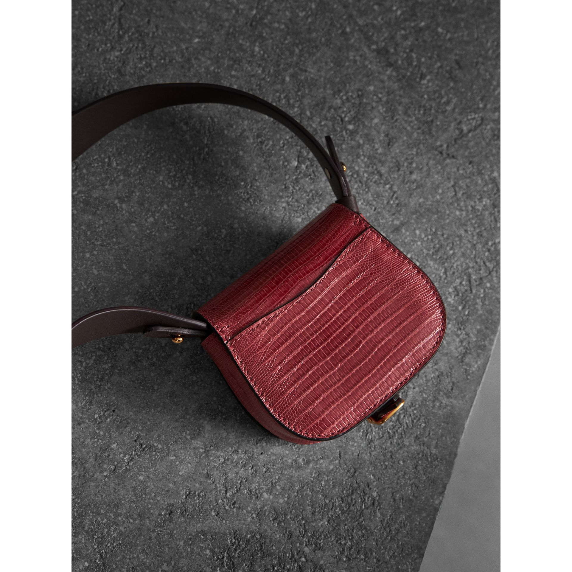 The Pocket Satchel in Lizard in Dark Crimson - Women | Burberry Australia - gallery image 3
