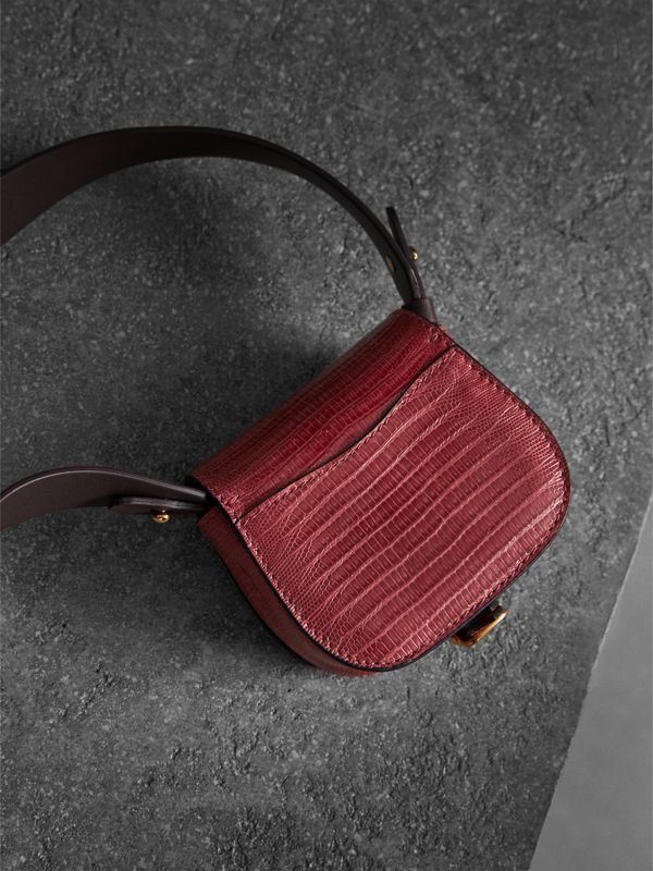The Pocket Satchel in Lizard in Dark Crimson - Women | Burberry Australia - cell image 3