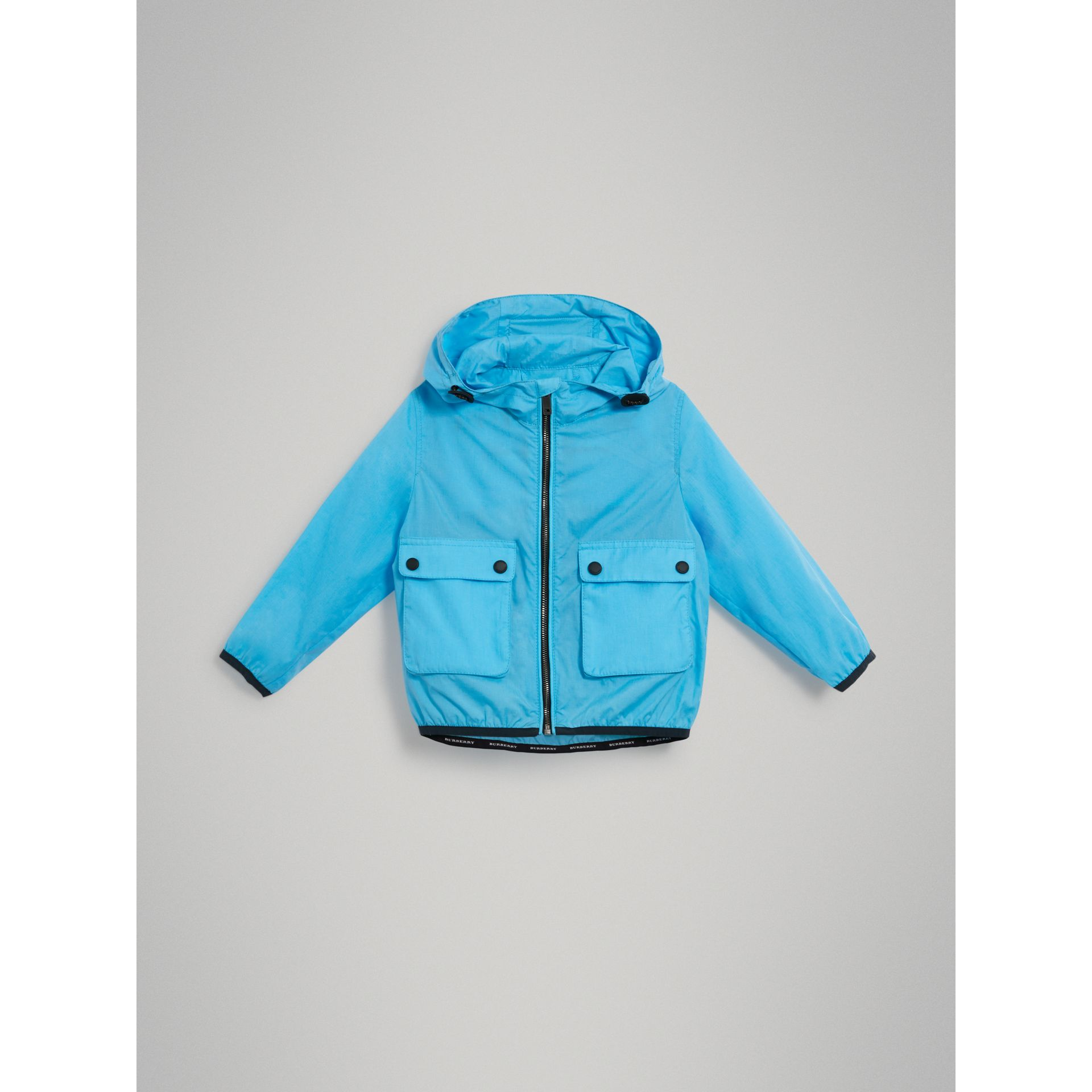 Showerproof Hooded Jacket in Bright Turquoise - Boy | Burberry - gallery image 0