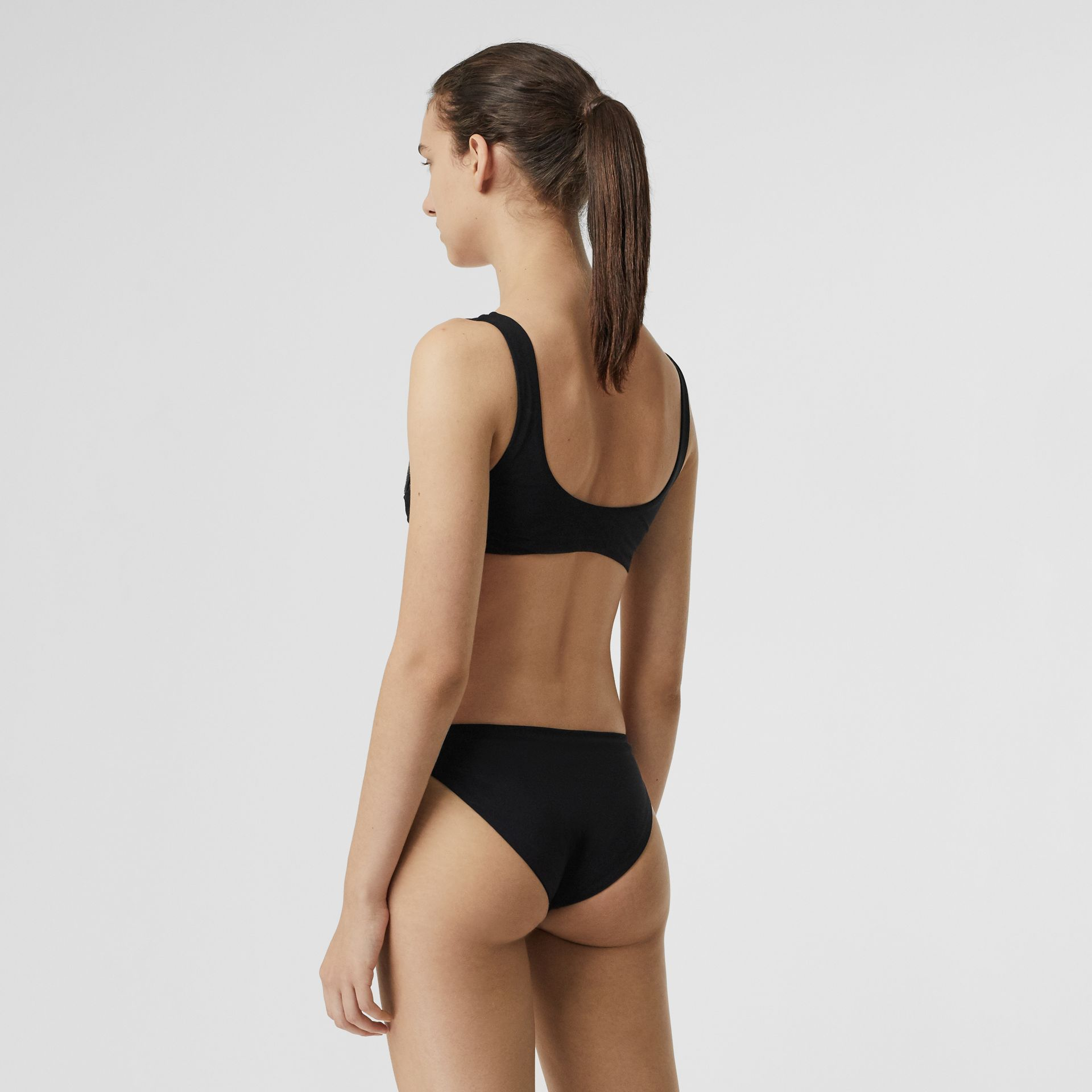 Crest Detail Bikini in Black - Women | Burberry United Kingdom - gallery image 1