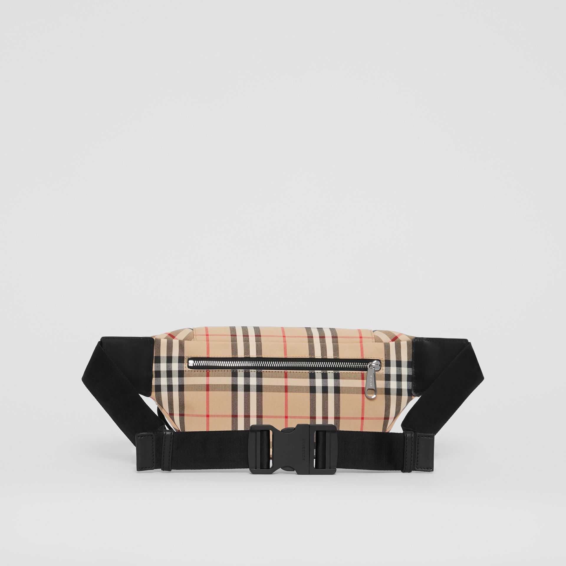 Medium Vintage Check Bonded Cotton Bum Bag in Archive Beige | Burberry - gallery image 9