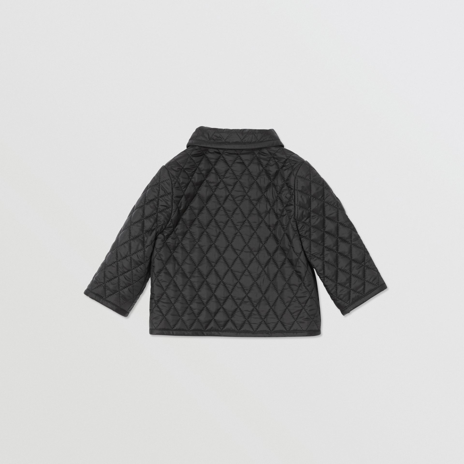 Showerproof Diamond Quilted Jacket in Black - Children | Burberry - gallery image 4