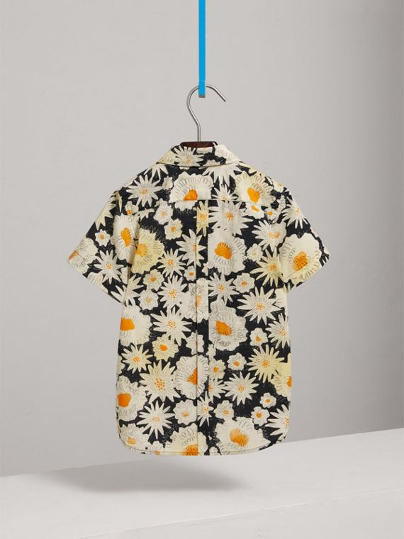 Short-sleeve Daisy Print Shirt in Black - Boy | Burberry United Kingdom - cell image 3