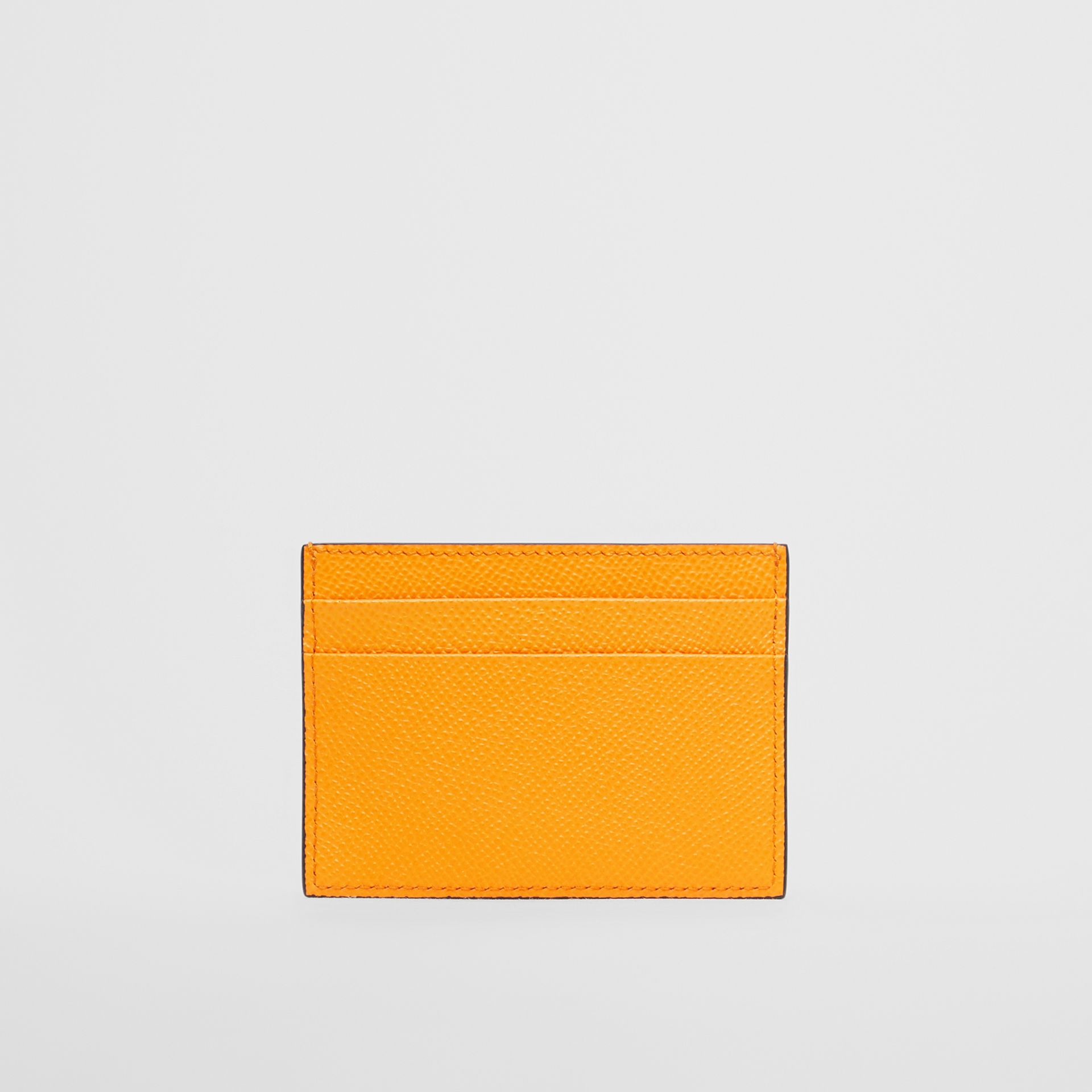 Grainy Leather Card Case in Bright Orange - Men | Burberry - gallery image 3