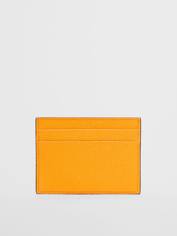 Grainy Leather Card Case in Bright Orange - Men | Burberry - cell image 3