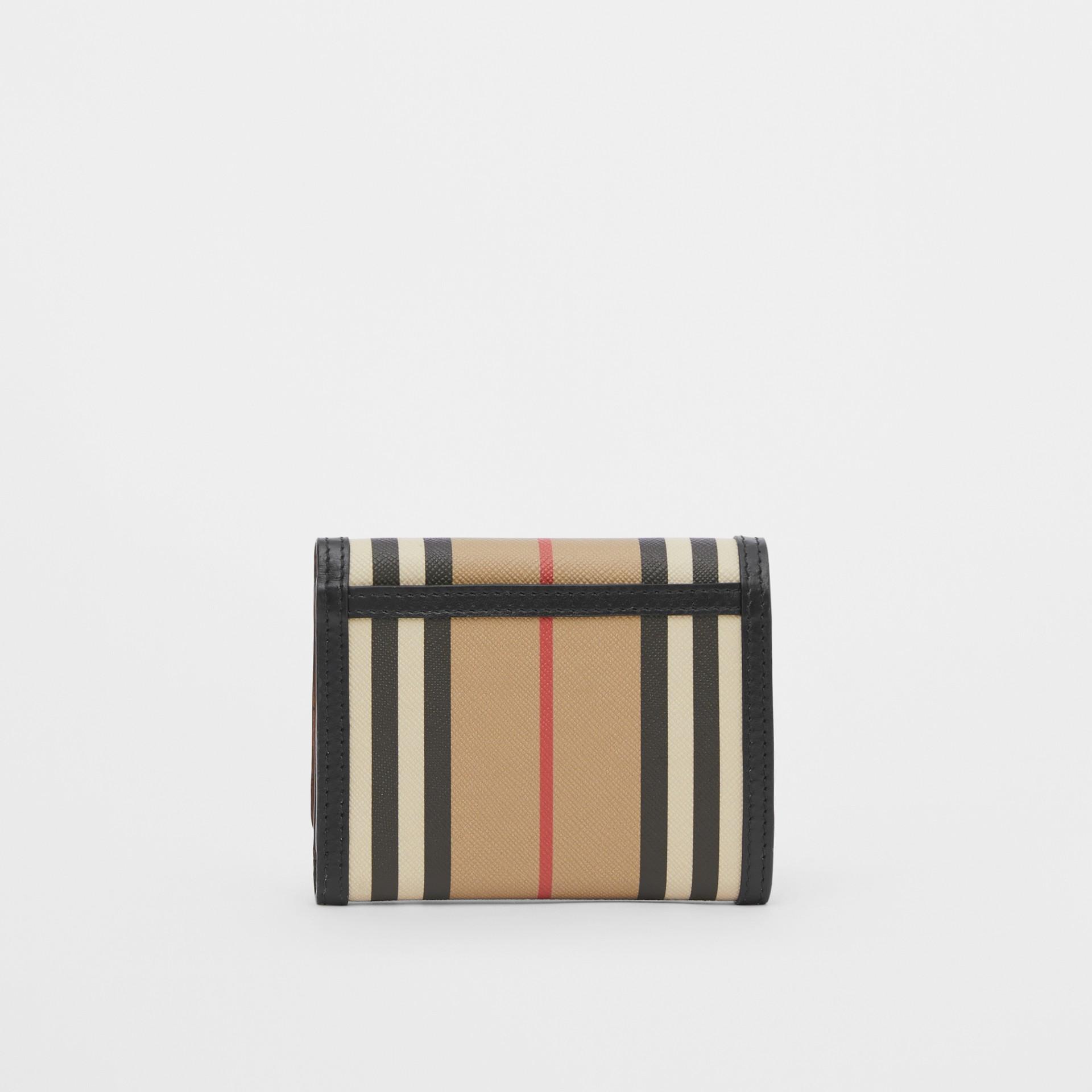 Small Icon Stripe E-canvas Folding Wallet in Archive Beige - Women | Burberry United Kingdom - gallery image 4