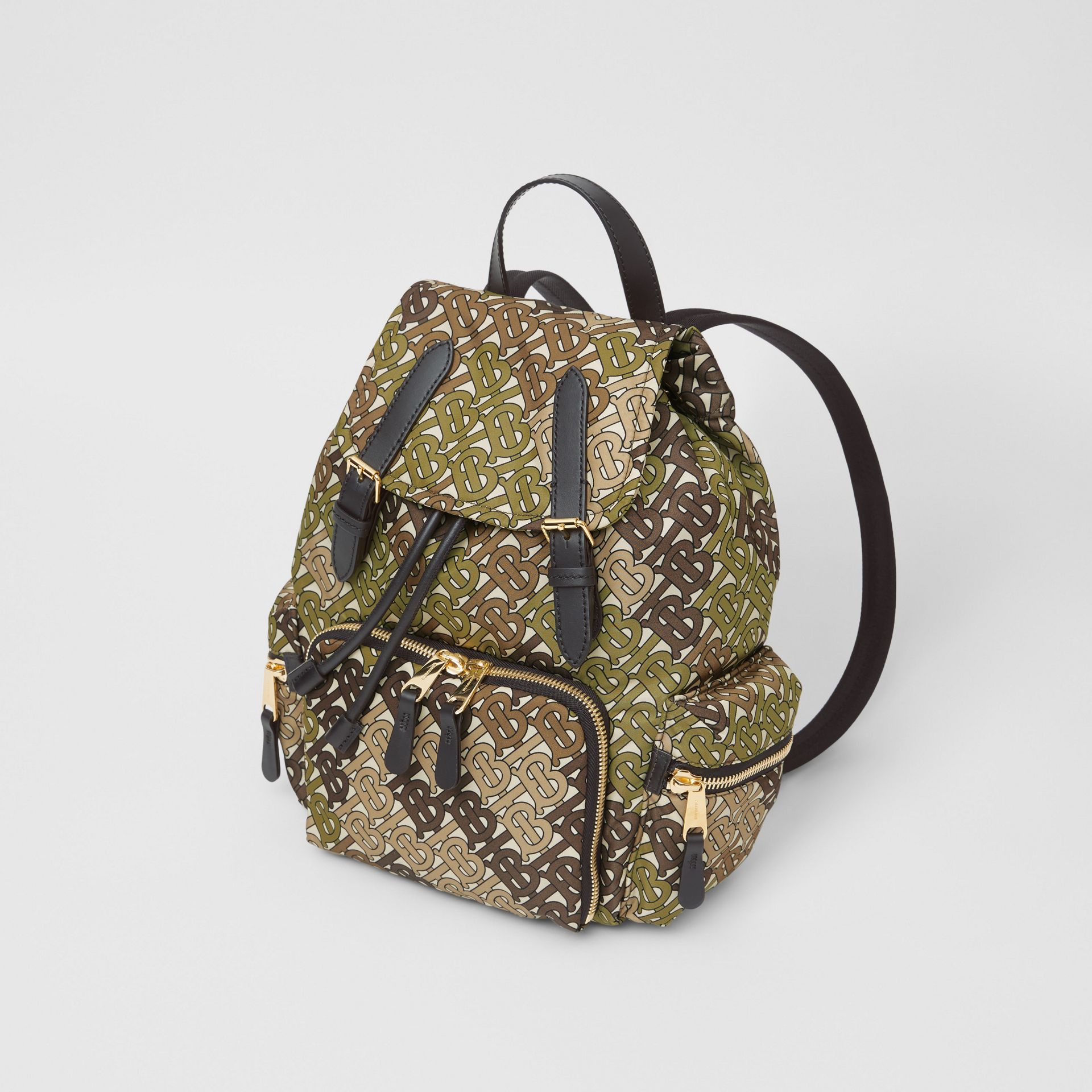 Sac The Rucksack moyen en nylon Monogram (Vert Kaki) - Femme | Burberry - photo de la galerie 3