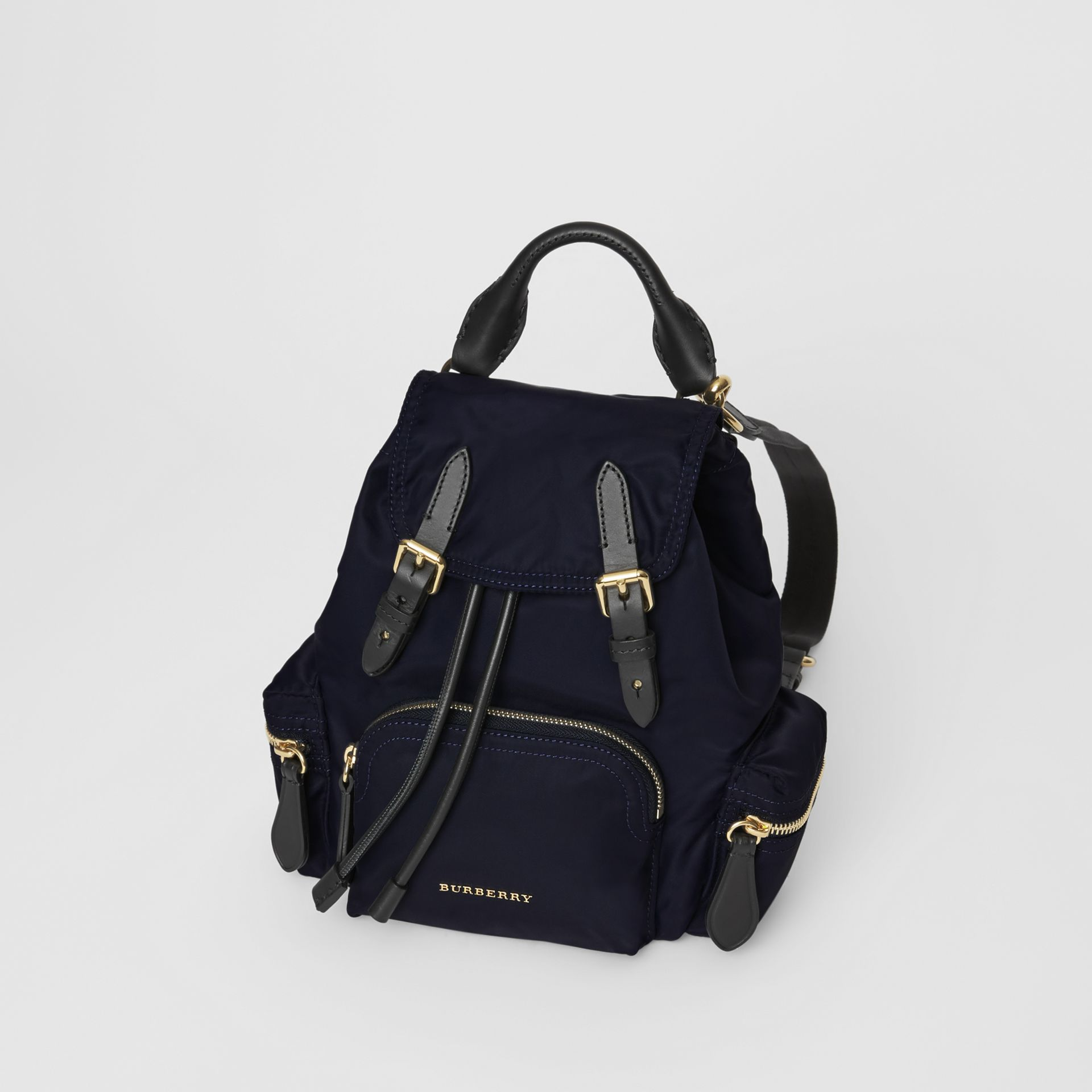 The Small Crossbody Rucksack in Nylon in Ink Blue - Women | Burberry Hong Kong - gallery image 3