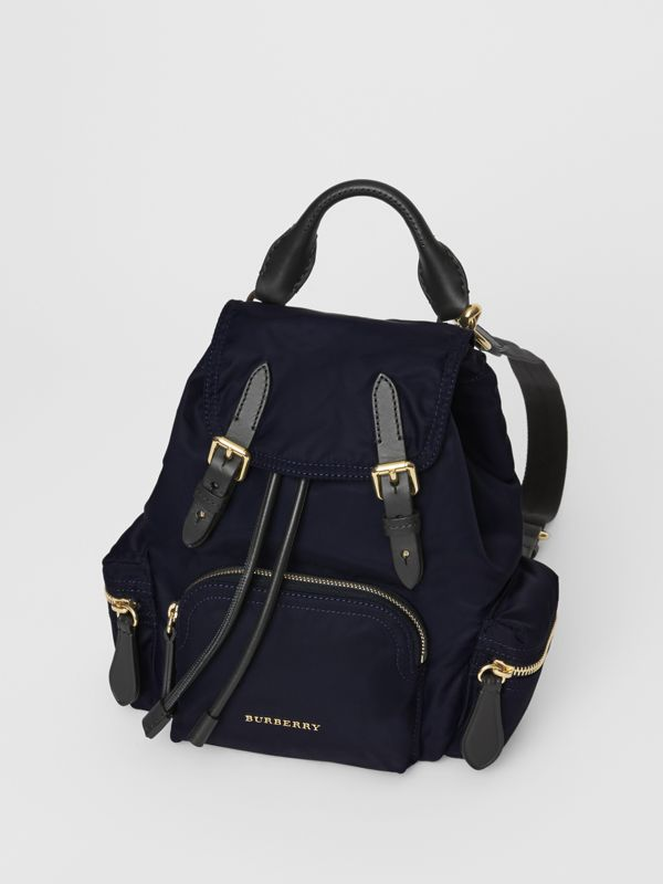 The Small Crossbody Rucksack in Nylon in Ink Blue - Women | Burberry Hong Kong - cell image 3