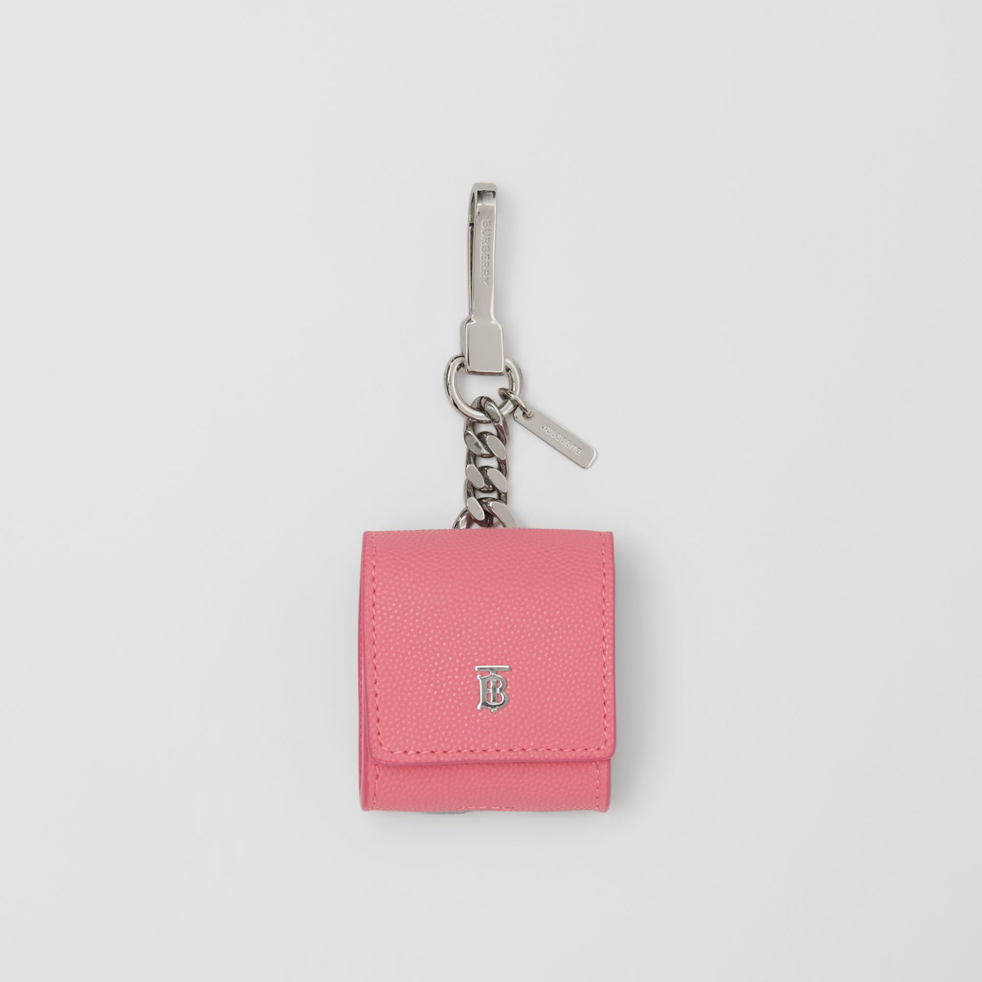 Grainy Leather AirPods Case in Candy Floss - Women   Burberry Canada - gallery image 0