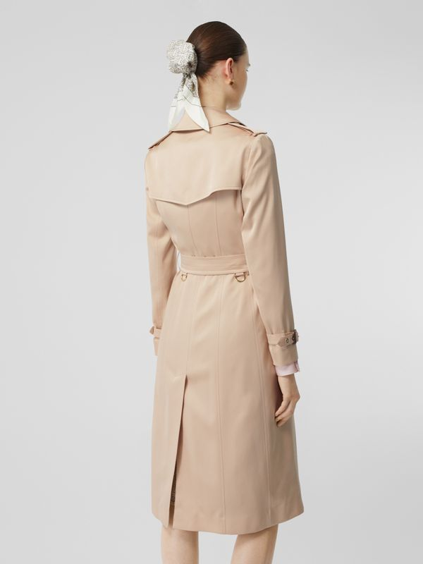 Silk Satin Trench Coat in Pale Blush - Women | Burberry - cell image 2