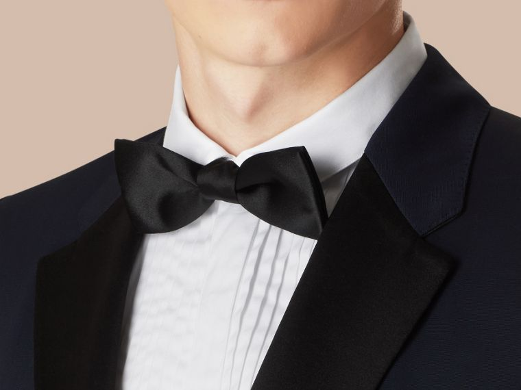 Navy Modern Fit Virgin Wool Half-canvas Tuxedo - cell image 4