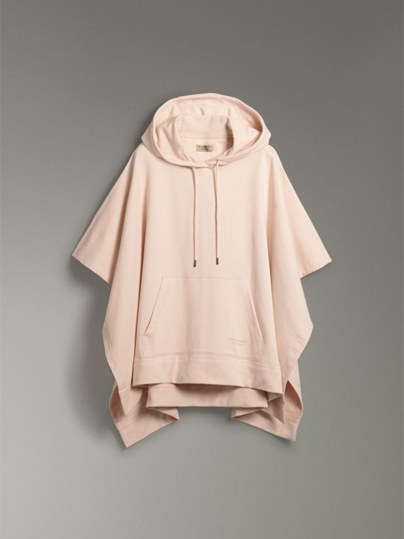 Cotton Jersey Hooded Cape in Pale Pink - Women | Burberry United Kingdom - cell image 3