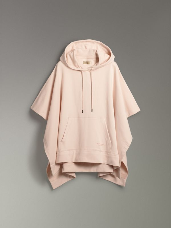 Cotton Jersey Hooded Cape in Pale Pink - Women | Burberry - cell image 3