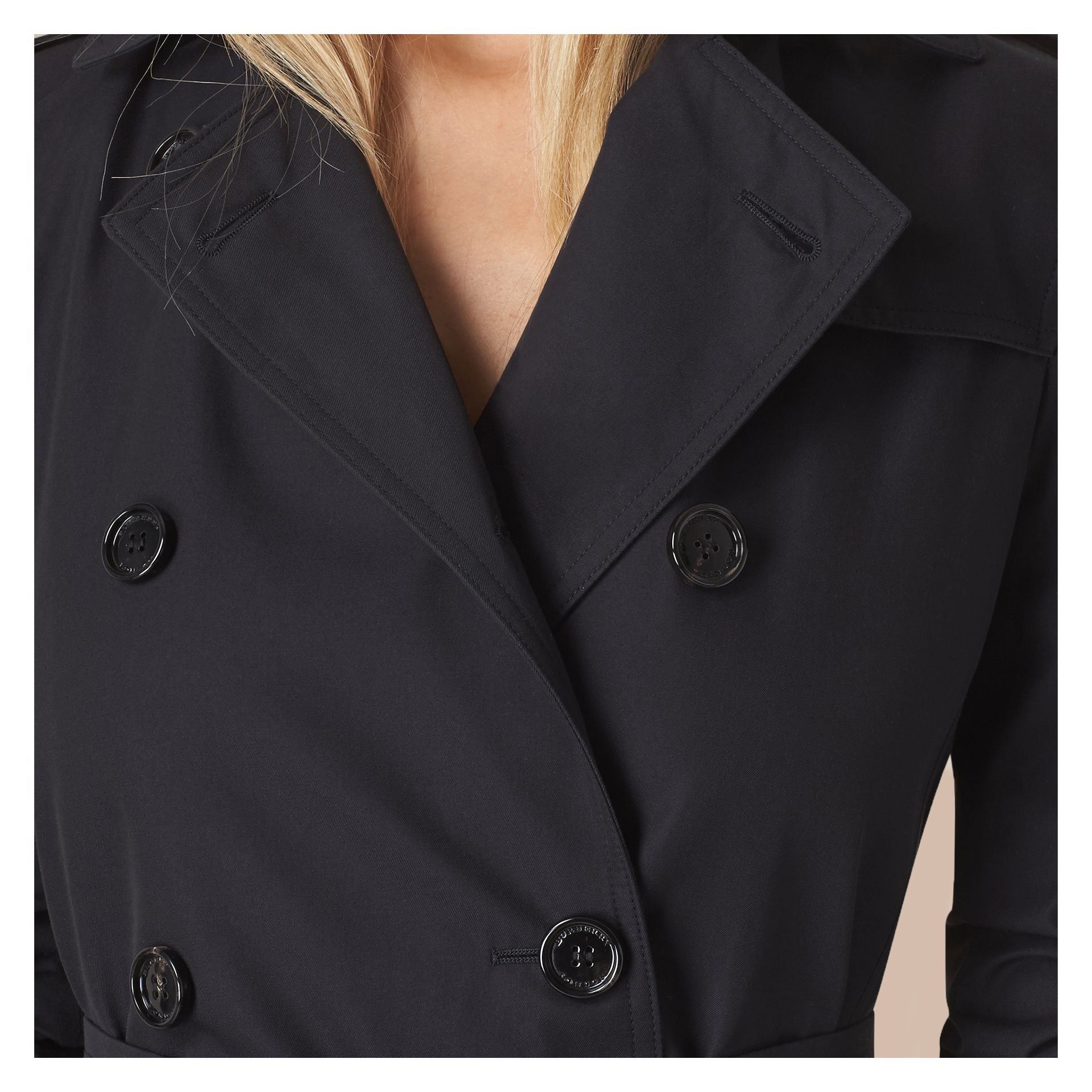Marine Trench-coat en gabardine de coton - photo de la galerie 5