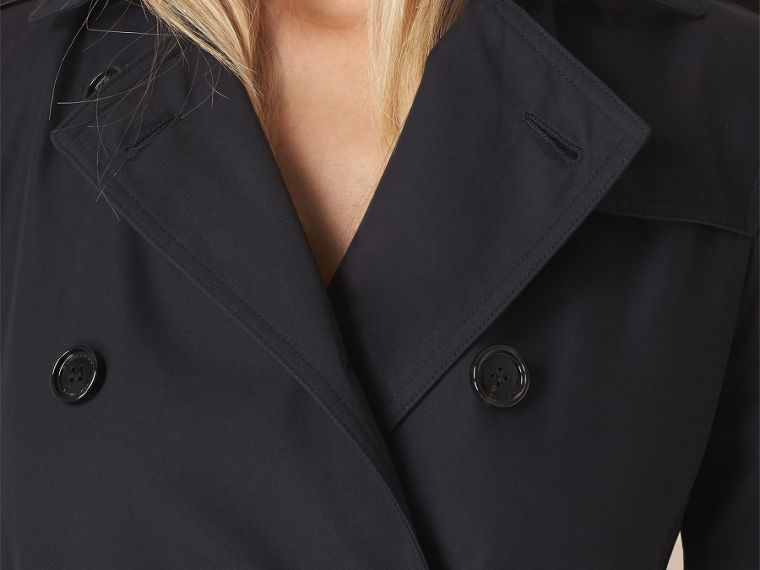 Navy Cotton Gabardine Trench Coat - cell image 4