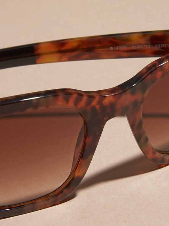Tortoise shell Square Frame Sunglasses Tortoise Shell - cell image 3