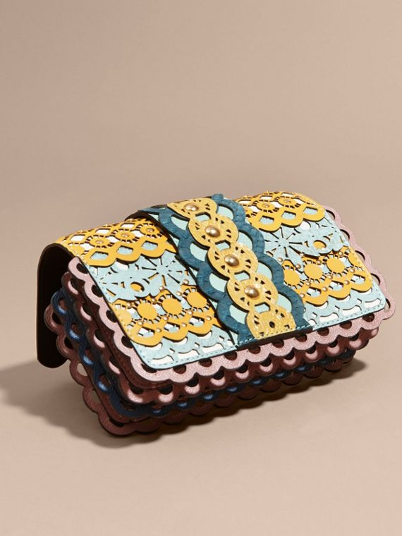 The Small Buckle Bag in Laser-cut Leather and Snakeskin - cell image 2