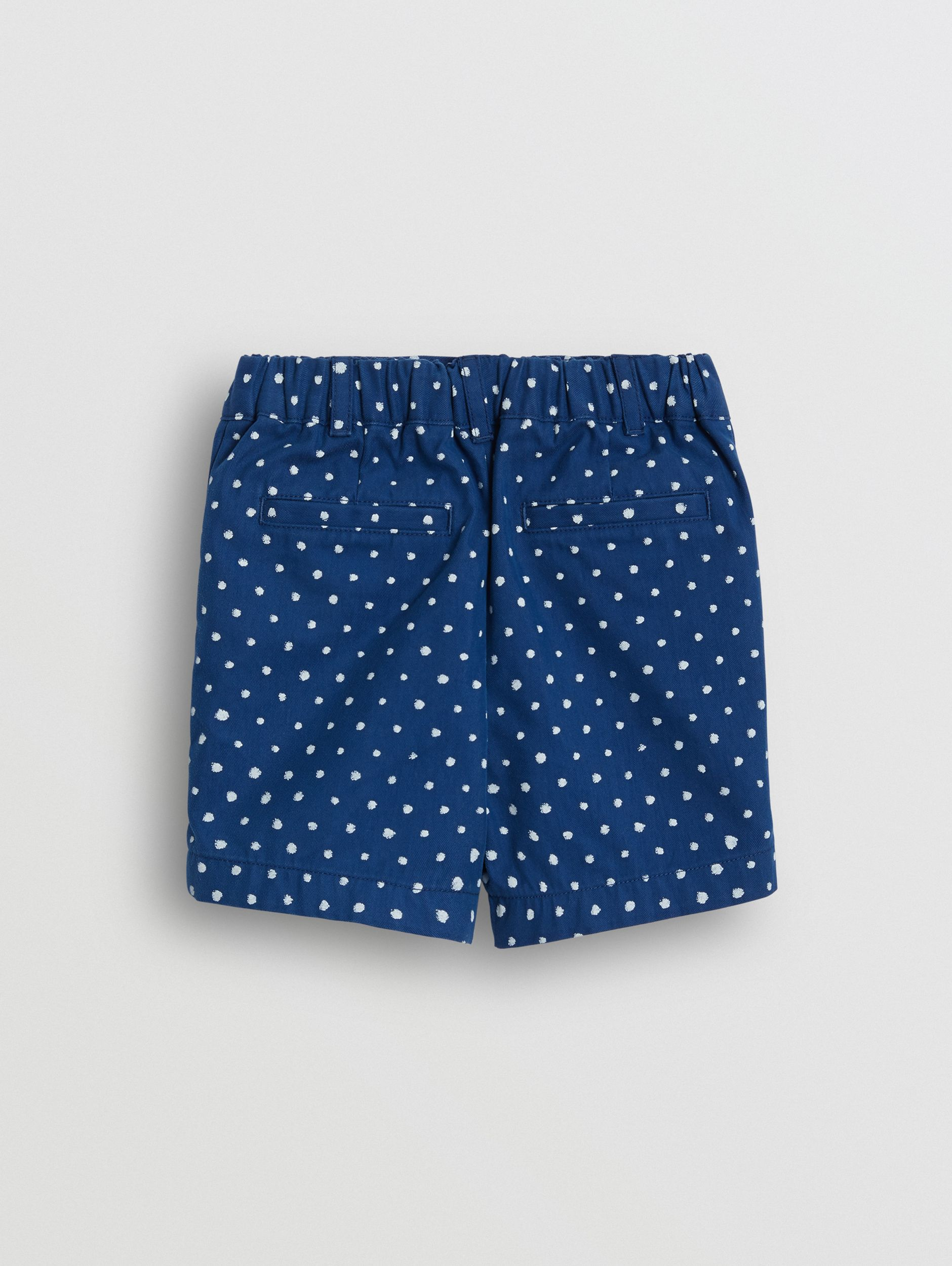 Spot Print Cotton Blend Shorts in Bright Navy - Children | Burberry - 4