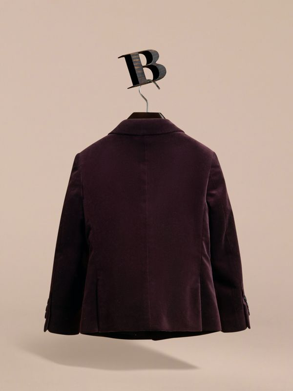Blazer sartoriale in velluto (Ribes Nero) | Burberry - cell image 3