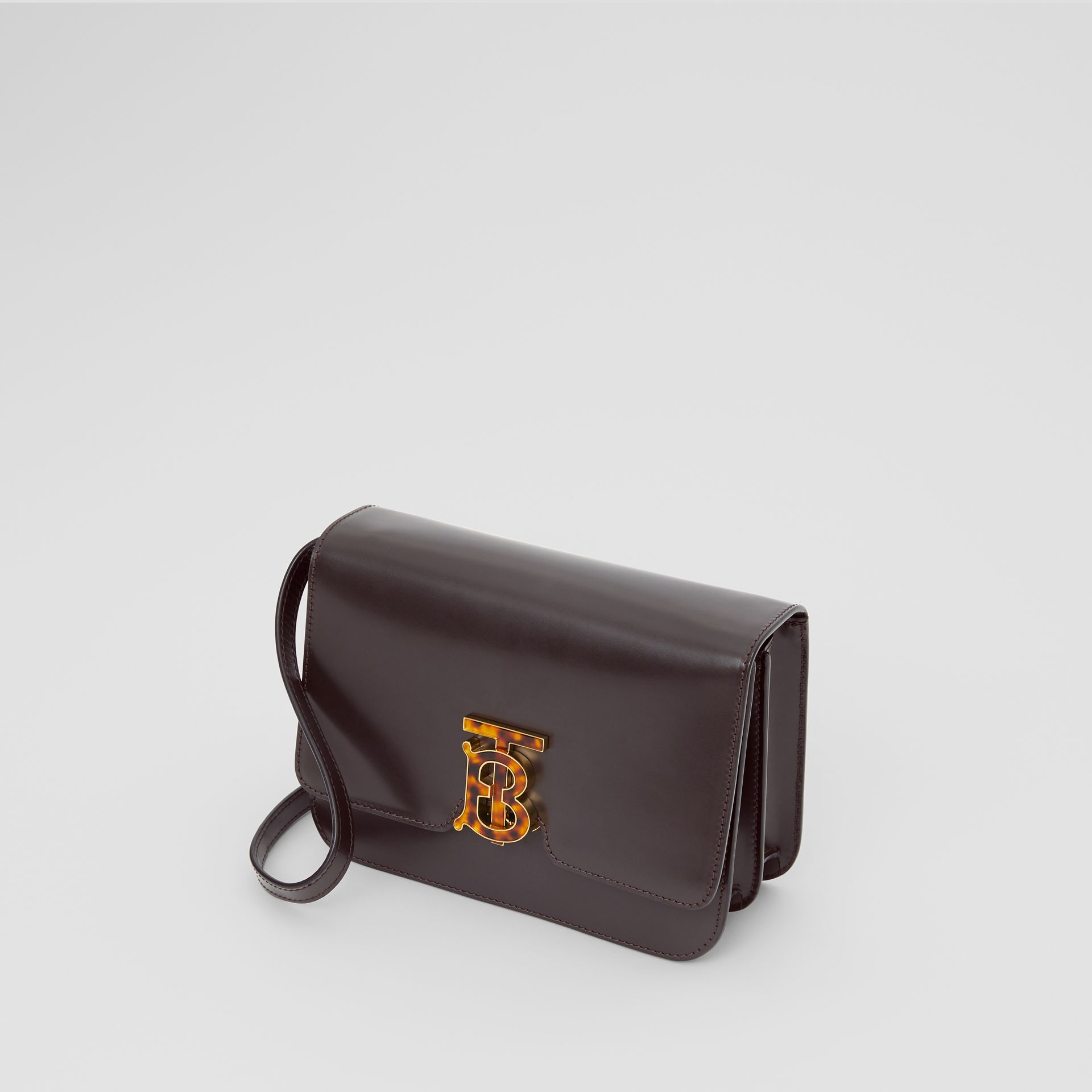 Small Leather TB Bag in Coffee - Women | Burberry Hong Kong - gallery image 3