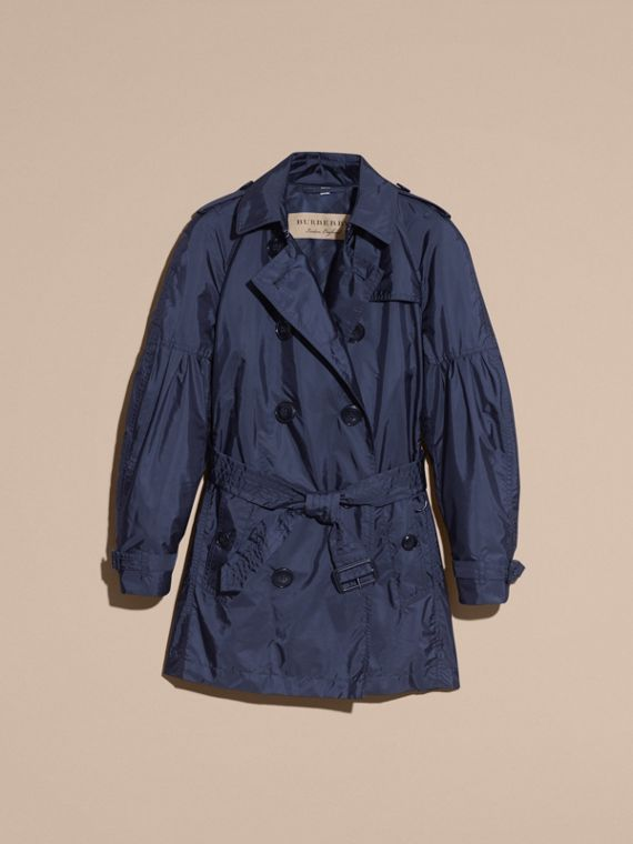 Navy Packaway Trench Coat with Bell Sleeves Navy - cell image 3