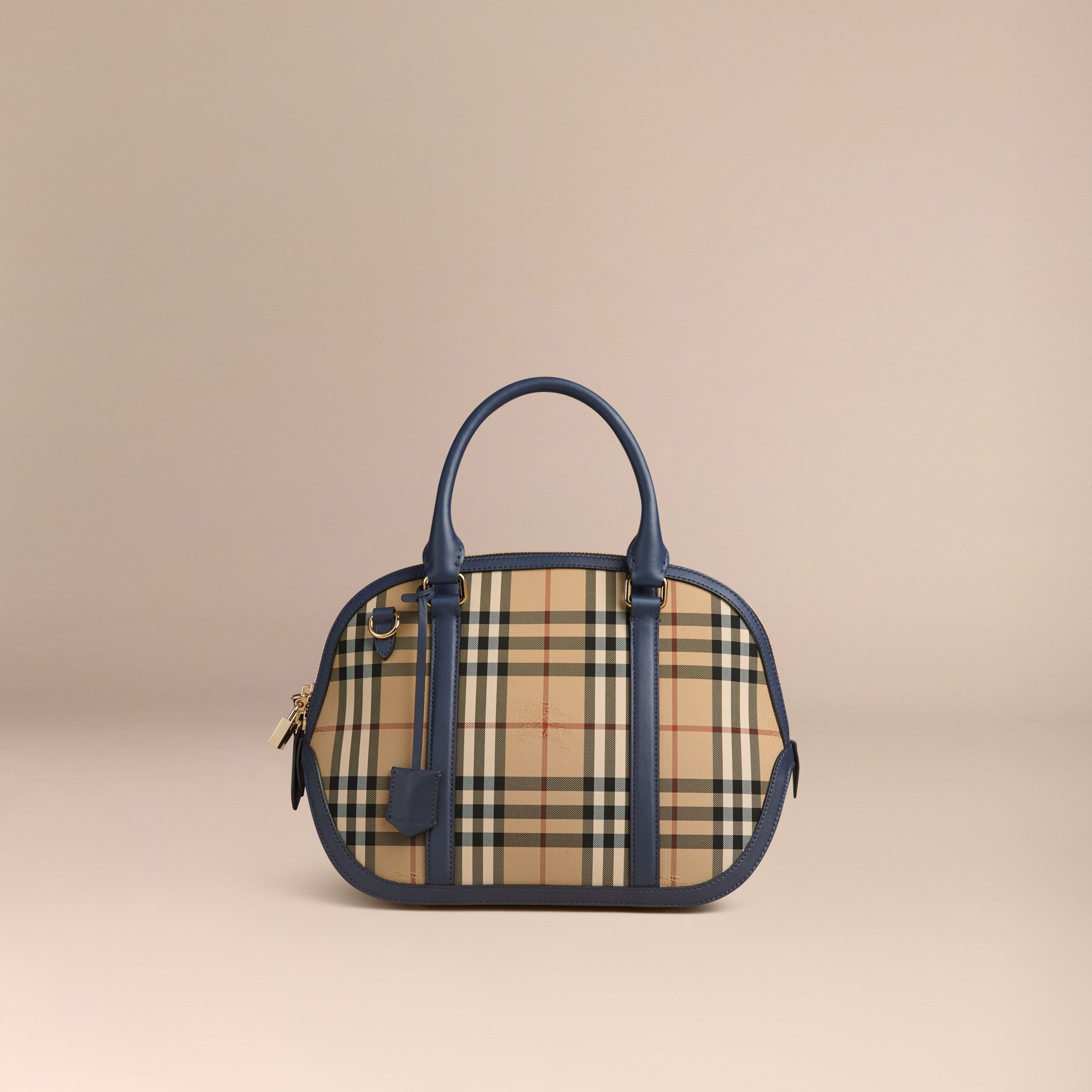 Honey/brilliant navy The Small Orchard in Horseferry Check Honey/brilliant Navy - gallery image 7