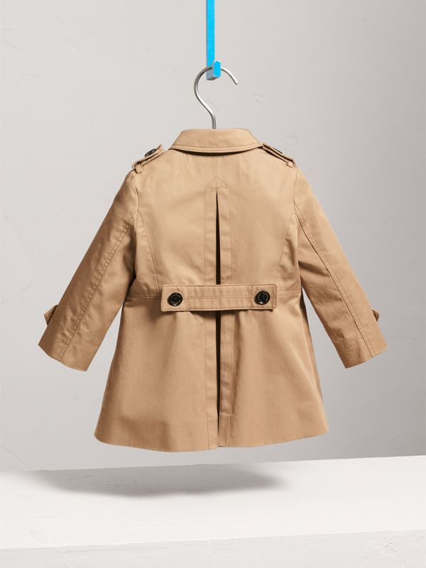 Cotton Single-breasted Trench Coat in Honey - Children | Burberry - cell image 3