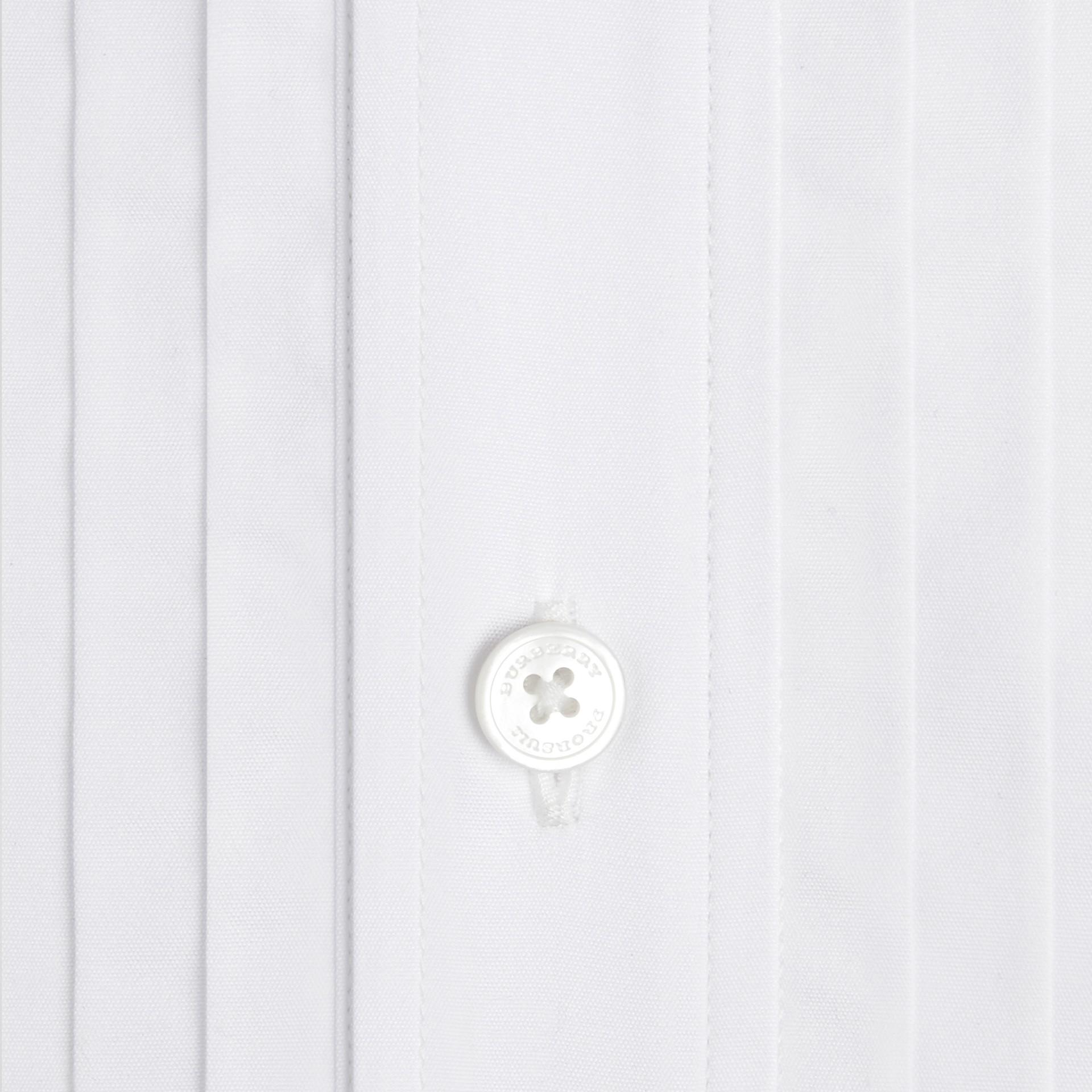 Оптический белый Платье-рубашка из хлопка - изображение 2