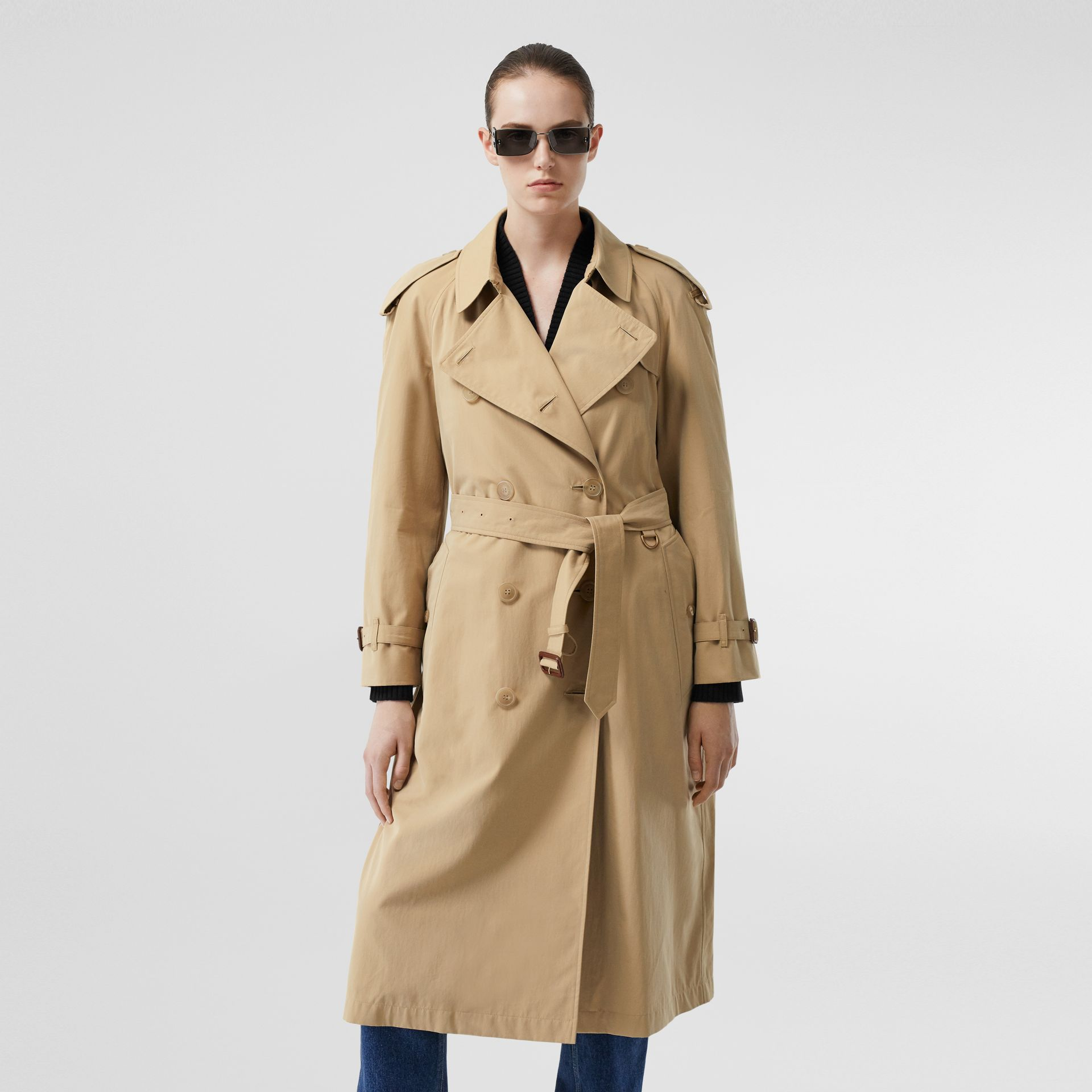 The Long Westminster Heritage Trench Coat in Honey - Women | Burberry - gallery image 7