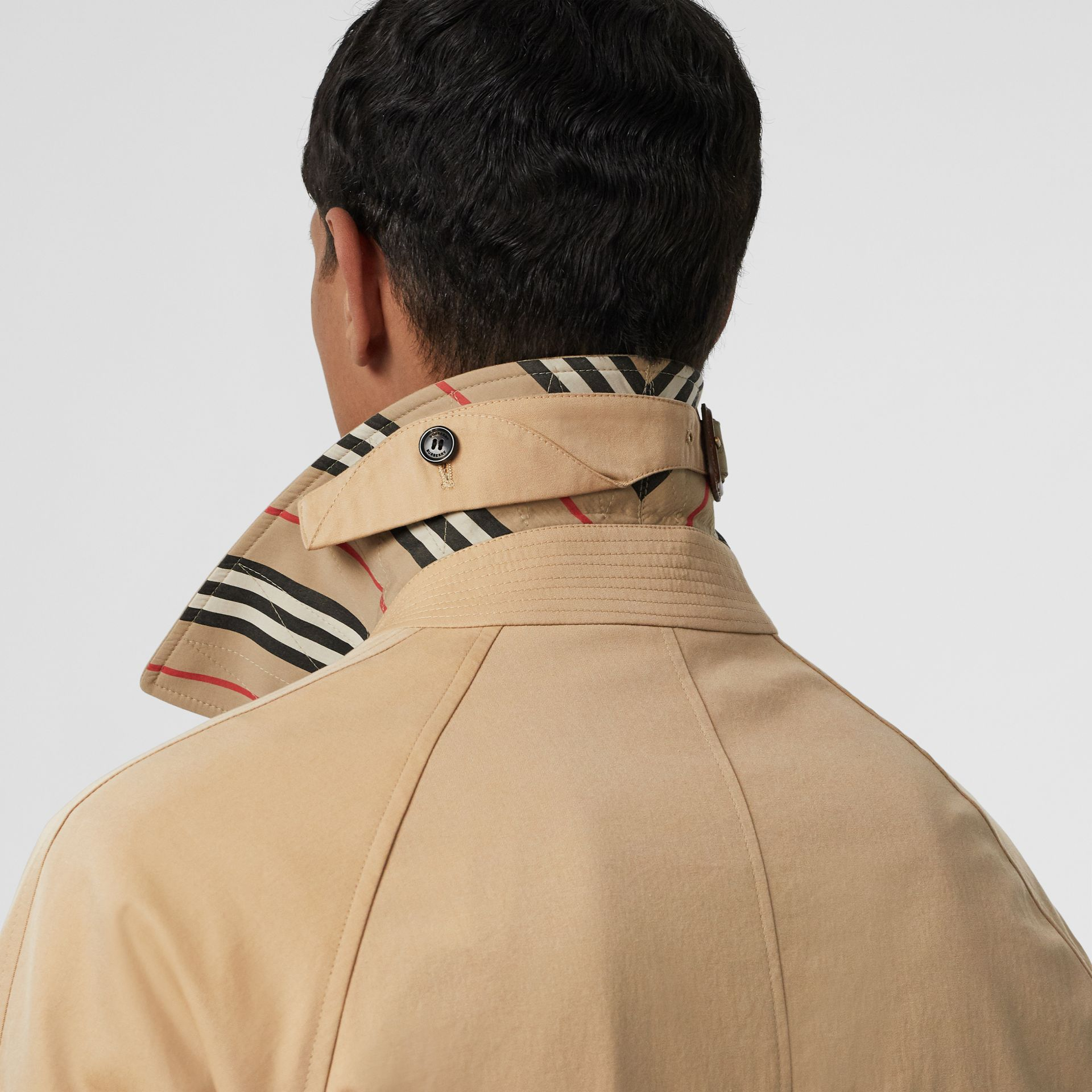 Icon Stripe Detail Tropical Gabardine Car Coat in Honey - Men | Burberry - gallery image 5