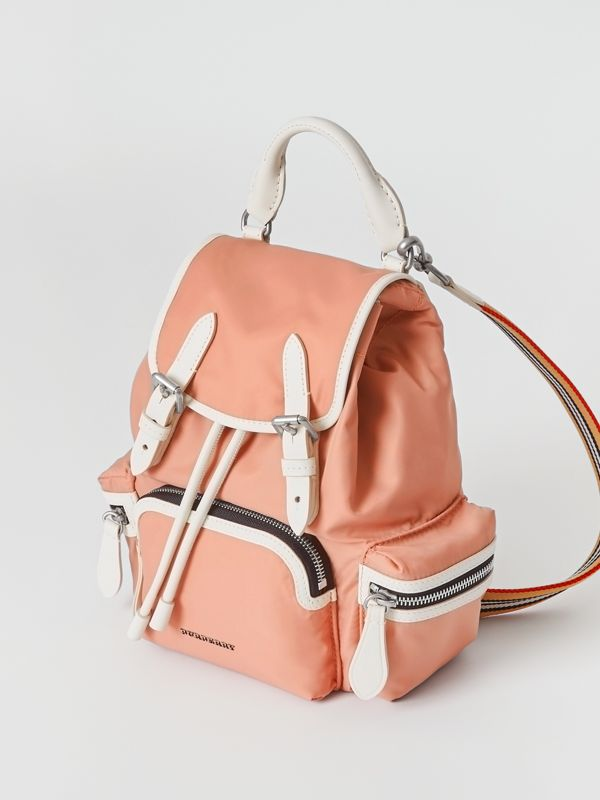 The Small Crossbody Rucksack in Nylon in Powder Pink - Women | Burberry - cell image 2