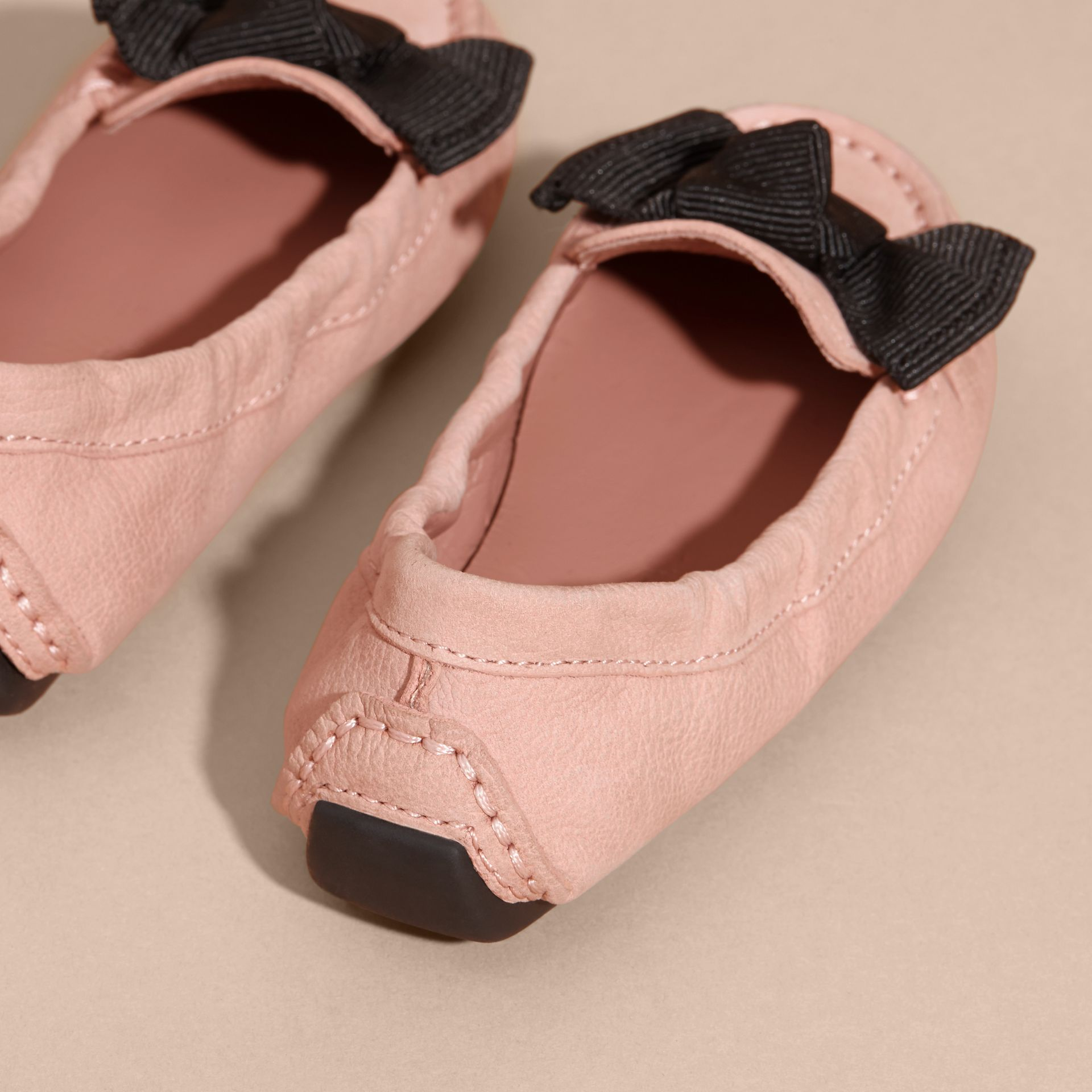 Ash rose Bow Detail Leather Loafers - gallery image 4