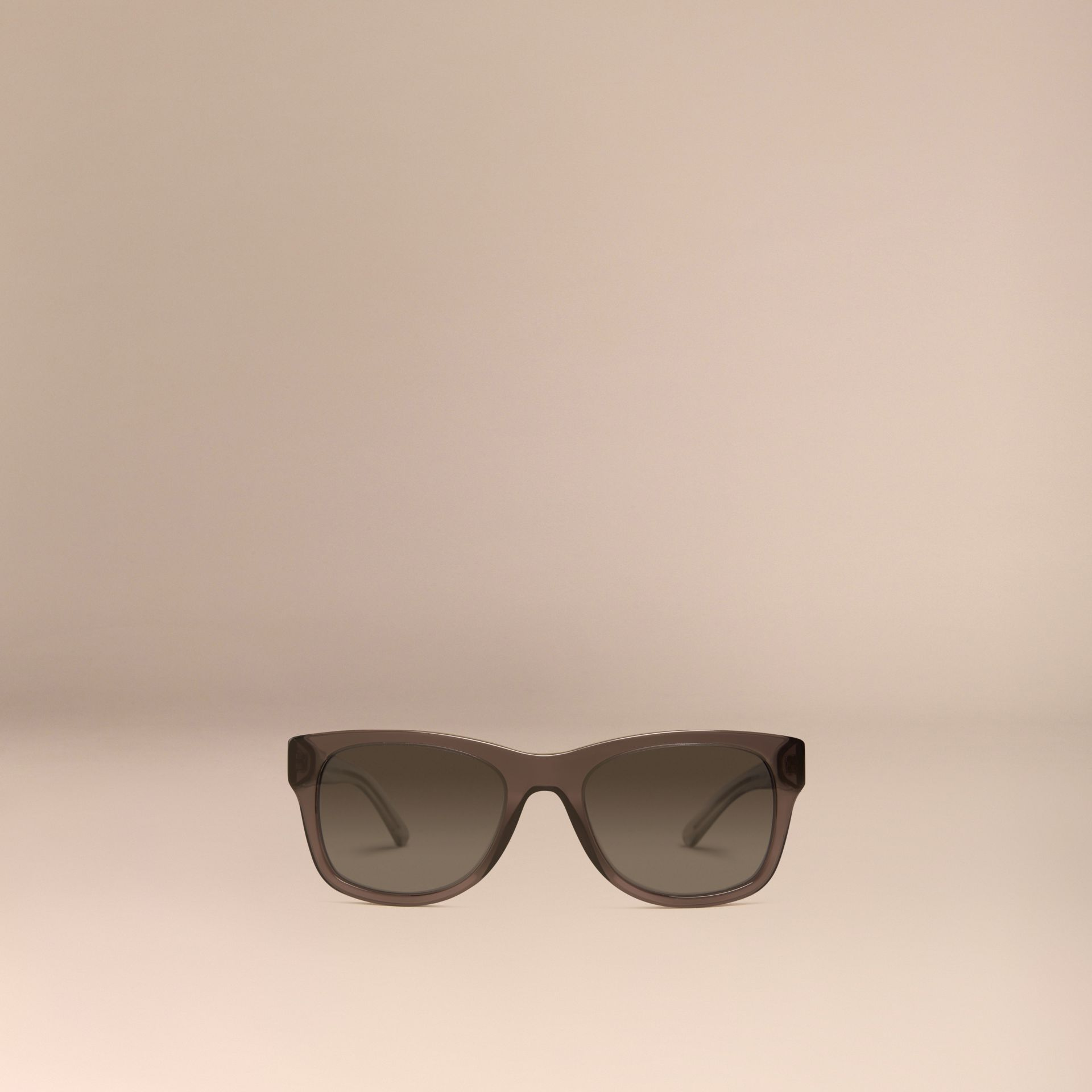 Dark grey Check Detail Square Frame Sunglasses Dark Grey - gallery image 3