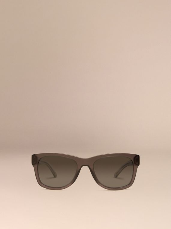 Dark grey Check Detail Square Frame Sunglasses Dark Grey - cell image 2
