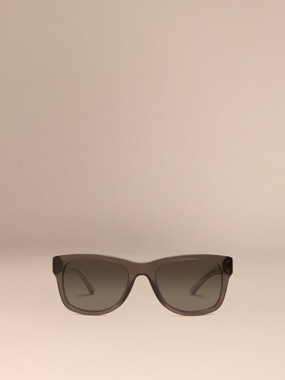 Grigio scuro Occhiali da sole con montatura quadrata e dettaglio check Grigio Scuro - cell image 2