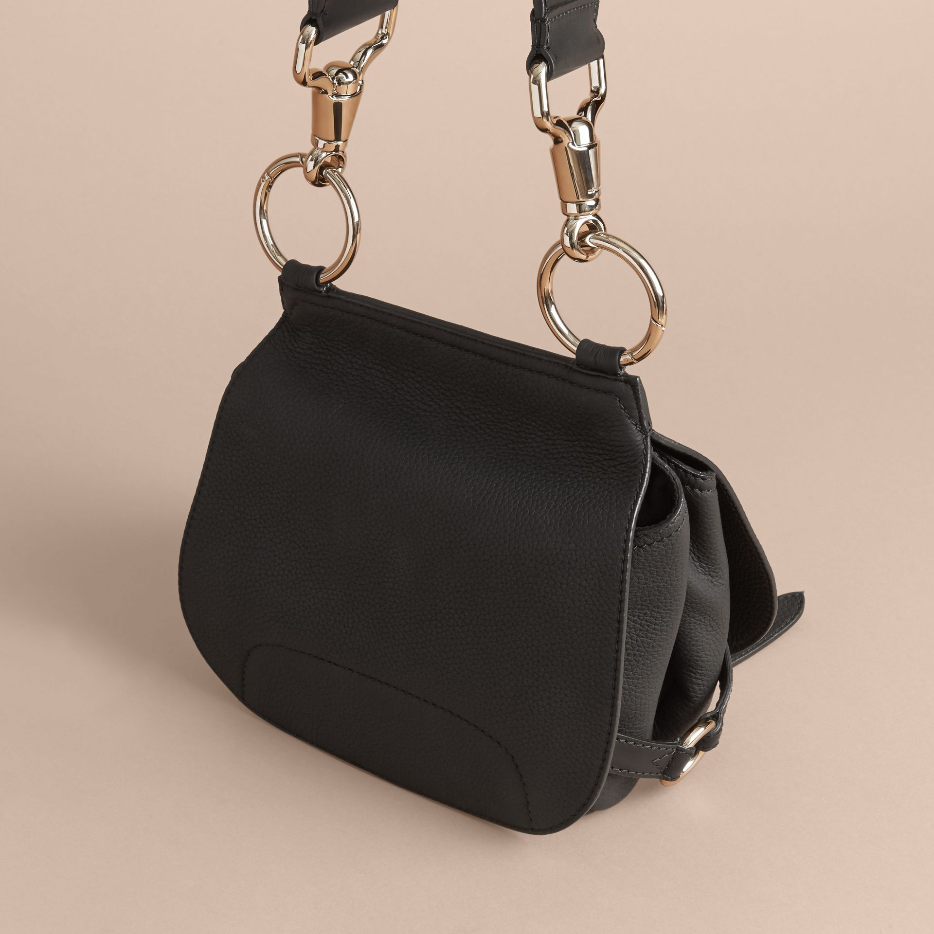 The Bridle Bag in Deerskin in Black - Women | Burberry United Kingdom - gallery image 5